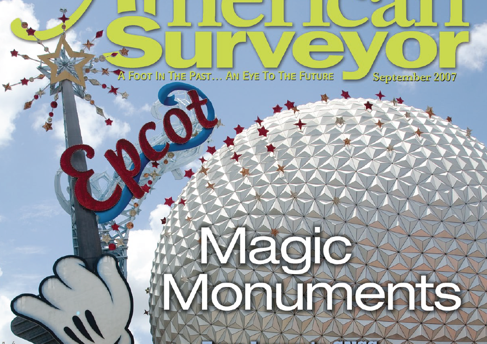 American Surveyor magazine cover with Epcot photo