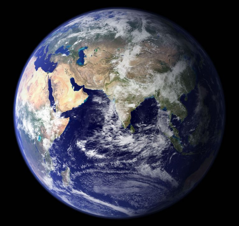 NASA Earth photo--eastern hemisphere
