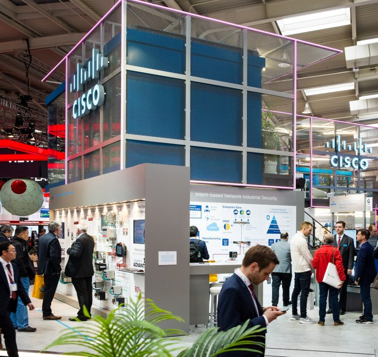 Cisco booth at trade fair