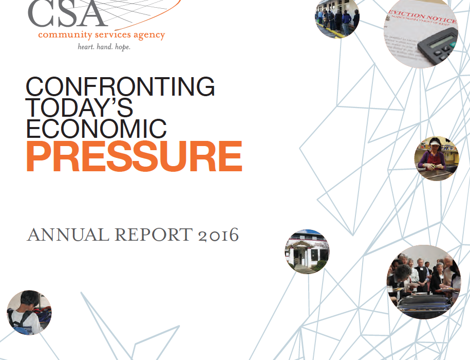 Community Services Agency 2016 annual report