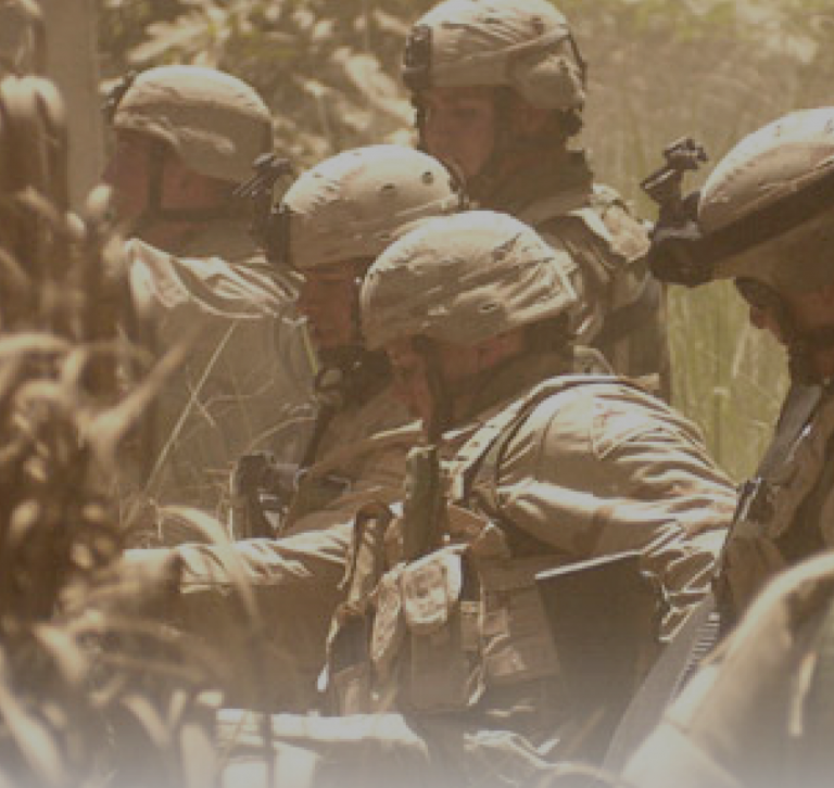 Military personnel in field